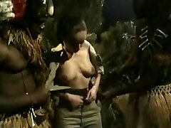 Big-chested Brunette Gets Nailed By Jungle BBC Monsters