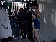 elder prisonners watch beauty woman