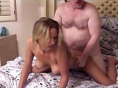 Warm Blonde Niki and Old Ed
