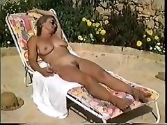 Yvonne nude in the pool