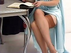 Justine Joli - Old-school Girdle And Stockings