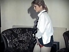 Hot groove - vintage british college girl undress dance