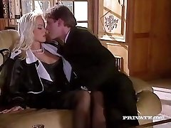 Silvia Saint Pounds the Lawyer and Milks His Cum