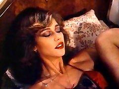 Retro Classical - Lady in Satin Underwear Pleasuring Herself
