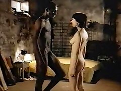 Brunette white girl with black lover - Softcore Interracial
