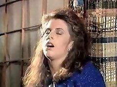 Girl in doorway caresses pussy 80's