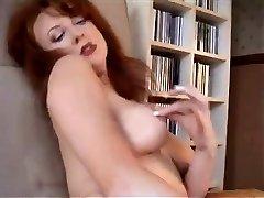 Redheaded Cougar In Retro Lingerie