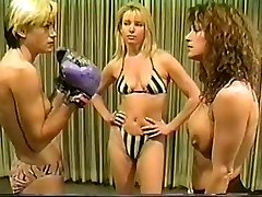Cal Excellent Christine vs Lee stripped to the waist boxing