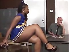 Ebony cheerleader Tara