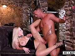 Big tits superstar spanking with spunk in mouth