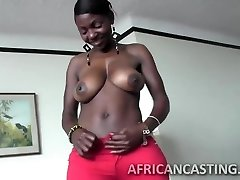 African cutie loves riding pecker