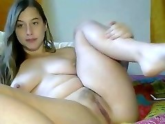 Splendid immature masturbating for web camera