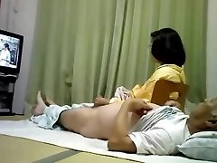 Asian mature couple