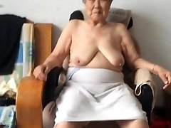 Asian 80+ Grannie After bath