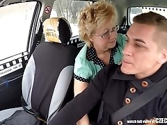 Czech Mature Blonde Greedy for Taxi Drivers Cock