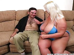 Hugh blonde blowjob