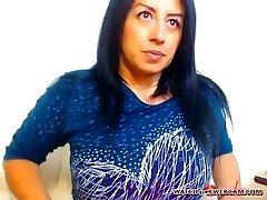 Hot Latin milf hot creampie on web cam