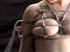 Older babe in a spectacular kimono hogtied and stimulated