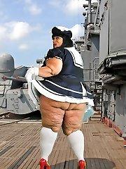 Xxx Bbw Cougar Farrah Foxx as fat vintage sailor