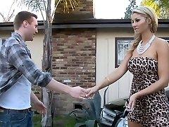 Natalie sucking her dad's private mechanic