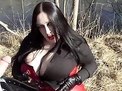 Business Diva Blowing Outdoor - Spunk In Her Face