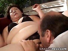 BBW Grandmother Gets Her Fat Pussy Stuffed