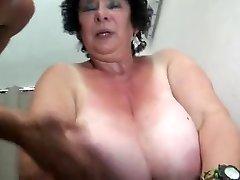 FRENCH Plumper 65YO Grandmother OLGA FUCKED BY 2 MEN - DP