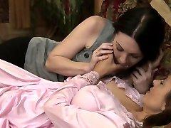 Big-chested stunning sappho kissing