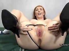 Bukkake - Mega-bitch with big tits in american prison bukkake