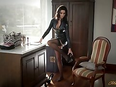 Super-sexy mother in latex Ania Kinski gets drilled properly