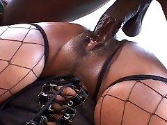 Big ass and bosoms ebony chick fucks like hell