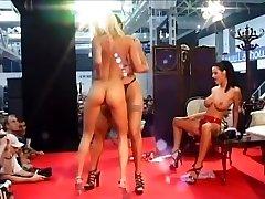 Three Nasty Femmes Grind Naked On Stage