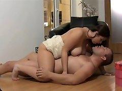Big breast Cougar romantic love making