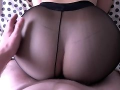 Girl with big ass pulverizing in stocking.