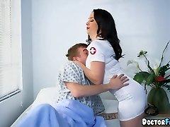 Nurses double team this Patient