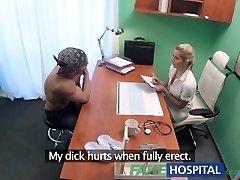 FakeHospital Hot wet pussy solves wood problem
