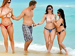 Charlee Pursue & Holly Halston & Sara Jay & Levi Cash in Tempted by a Milf