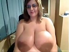 Ugly Chick demonstrates off insanely massive udders