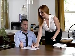 Eva Berger in Bare Lunch - OfficeObsession