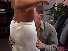 Platinum-blonde fucked and titties creamed