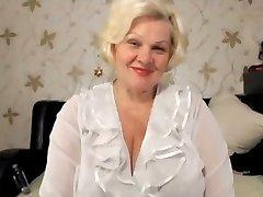 Blonde granny yam-sized tits