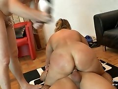 Amateur plus-size french mature sodomized Double Penetration fisted n facialized