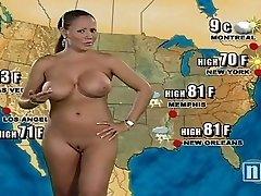 Naked Weather Girl