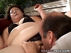 BBW Grandma Gets Her Fat Vag Stuffed