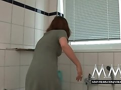 MMV Films Sexy German housewife loves a big man rod