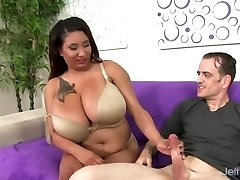 Chubby Danny Lynn Shows Off Her Good-sized Melons and Gets Her Pussy Nailed