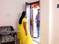 Desi telugu aunty romance with Fridge mechani