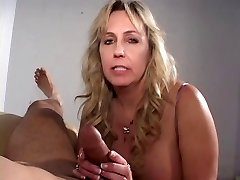Mature ciggy smoking cock sucking grandma gets a load on her titties