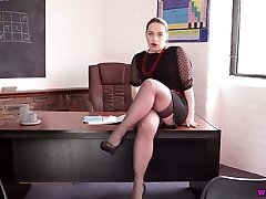 Highly perverted Russian teacher Olga spreads legs and showcases off her coochie
