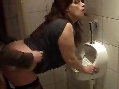 German mature boned in bathroom